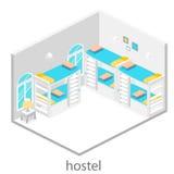 Isometric hostel room Stock Photo