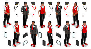 Isometric Hotel Reception Icon Set Collection Vector Illustra Stock Photo
