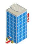 Isometric hotelowa ikona Zdjęcia Royalty Free
