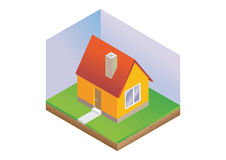 Isometric house Royalty Free Stock Photo