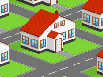 Isometric house Royalty Free Stock Image