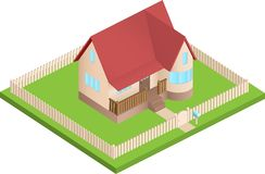 Isometric house Stock Photos