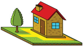 Isometric house Stock Photo