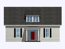 Isometric House. Front, isometric view of a plain house Royalty Free Stock Image