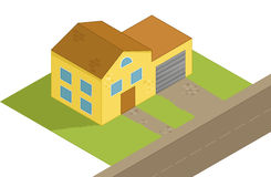 Isometric house illustration Royalty Free Stock Photography