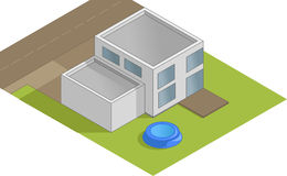 Isometric house illustration Stock Image