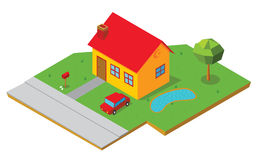 Isometric house 1 Royalty Free Stock Image