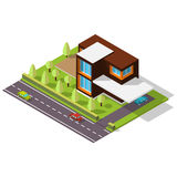 Isometric house in the Scandinavian style Royalty Free Stock Photos