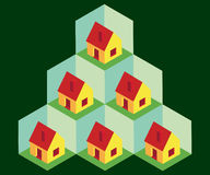 Isometric houses Royalty Free Stock Images
