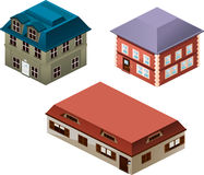 Isometric houses Stock Photography