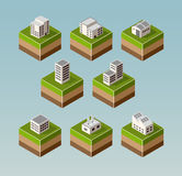 Isometric houses Stock Images