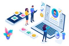 Free Isometric HR Manager, We Hire Employees To Our Company, Business Recruiting Concept. Concept For Web Design Stock Photography - 180995202