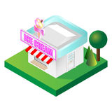 Isometric Ice Cream Parlour Royalty Free Stock Photography
