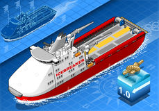 Isometric Icebreaker Ship  in Navigation Stock Image