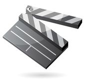 Isometric icon of clapper board Royalty Free Stock Photography