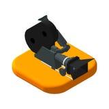Isometric icon movie camera. Pictograms Video Stock Photography