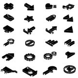 Isometric icon set Stock Image
