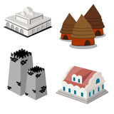 Isometric icon set Stock Photos