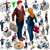 Isometric Icon Set Isolated Business People Vector Illustration Royalty Free Stock Photo