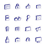Isometric icons Business and startup Doodle 3d Stock Images