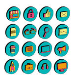 Isometric icons Business and startup Doodle 3d Stock Image