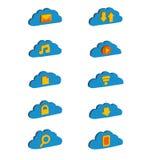 Isometric icons Cloud storage Royalty Free Stock Photos