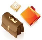 Isometric icons of stationery Royalty Free Stock Photography