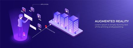 Isometric illustration of man controlled and connected his house with technology device through internet network. Isometric illustration of man controlled and stock illustration