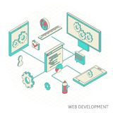 Isometric illustration of website analytics Stock Photo