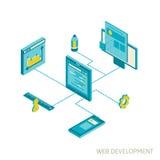 Isometric illustration of website analytics Stock Image