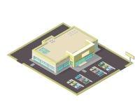 Isometric ilustracja supermarketa interneta ikona Zdjęcie Royalty Free