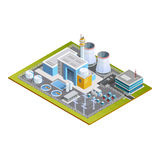 Isometric Image Of Nuclear Station Stock Image