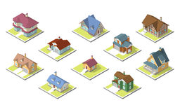 Isometric image of a private house Stock Images