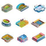 Isometric Images Stadiums Set Royalty Free Stock Photo