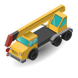 Isometric industrial crane for construction. Isometric industrial mobile crane for construction. Vector illustration Royalty Free Stock Photography