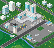 Isometric industrial landscape Royalty Free Stock Images