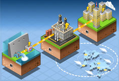 Isometric Infographic Energy Harvesting Diagram Stock Photo