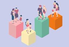 Isometric Infographic Rodzinni typ - LGBT zawierać Zdjęcie Stock