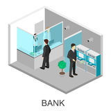Isometric interior of bank Royalty Free Stock Images