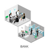 Isometric interior of bank Royalty Free Stock Image
