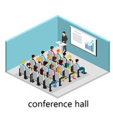 Isometric interior of conference hall. Flat design. 3d illustration Stock Photos