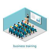 Isometric interior of conference hall. Flat design. 3d illustration Royalty Free Stock Image