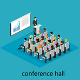 Isometric interior of conference hall Royalty Free Stock Photo