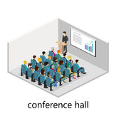 Isometric interior of conference hall. Flat design. 3d illustration Royalty Free Stock Photo
