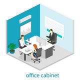Isometric interior of directors office Stock Photo