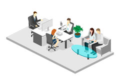 Isometric interior of directors office Royalty Free Stock Photos