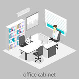 Isometric interior of directors office Stock Images