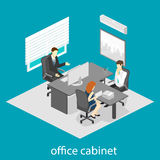 Isometric interior of directors office Royalty Free Stock Photography
