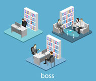 Isometric interior of directors office. Stock Photography