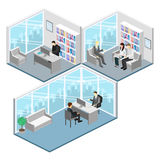 Isometric interior of directors office. Royalty Free Stock Photo